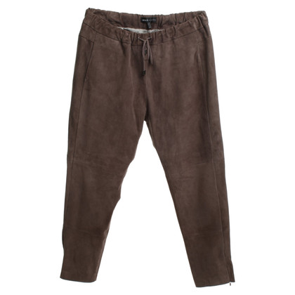 Arma Leather pants in brown