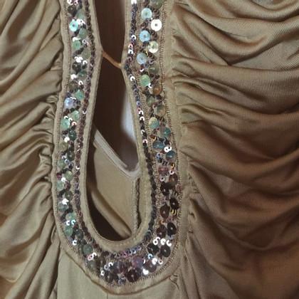 Patrizia Pepe Goldfarbenes Kleid mit Pailletten