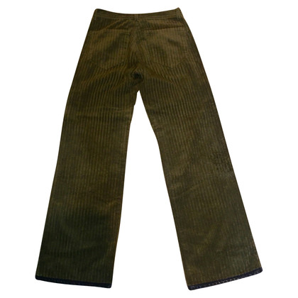 Jean Paul Gaultier Pants with leather trim