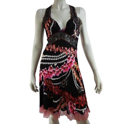 Just Cavalli Dress met bloemenprint en kant