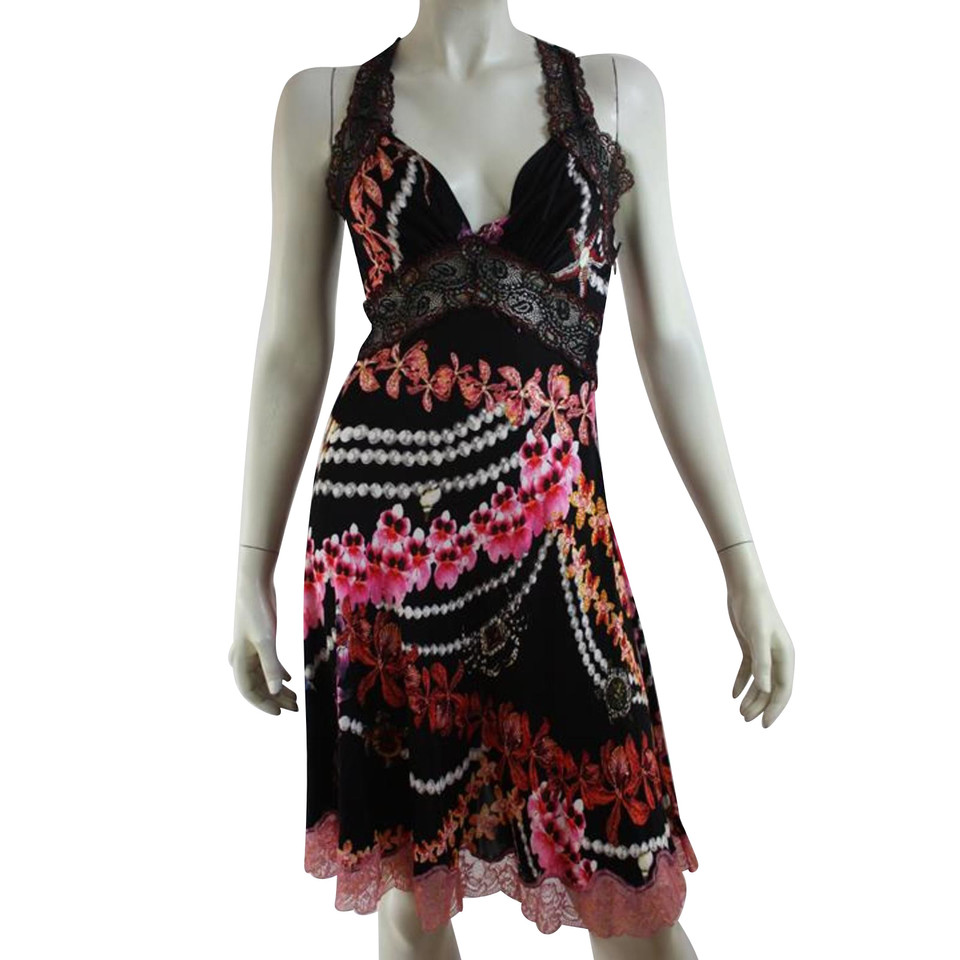 Just Cavalli Dress with flower print and lace