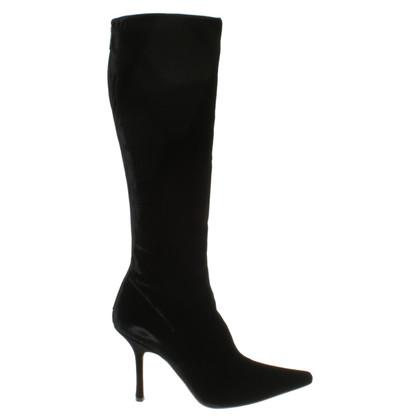 Jimmy Choo Velvet boots in black