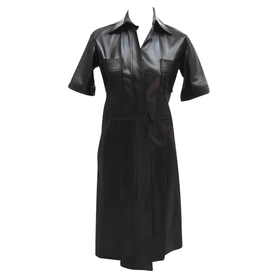 Yves Saint Laurent Leather dress with pockets