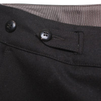 Armani Collezioni pantaloni di lana in marrone scuro