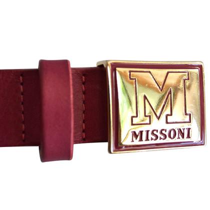 Missoni Leather Belt in Bordeaux