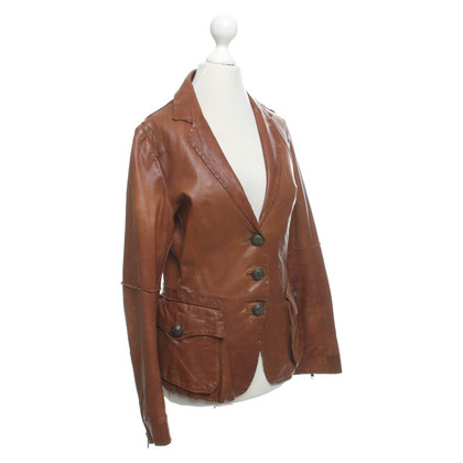 IQ Berlin Leather jacket in cognac