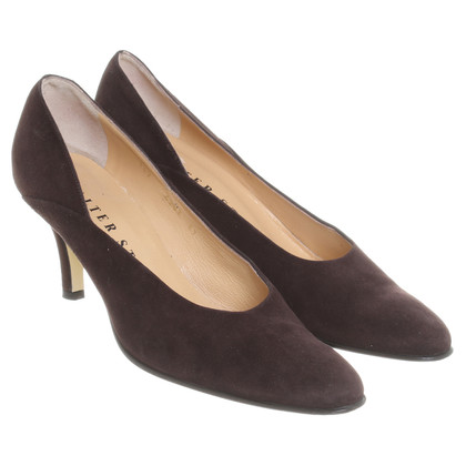 Walter Steiger Brown suede pumps