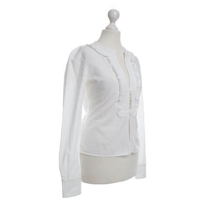 Valentino Ruffle blouse in white
