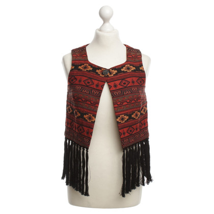 BCBG Max Azria Vest with ethnic patterns