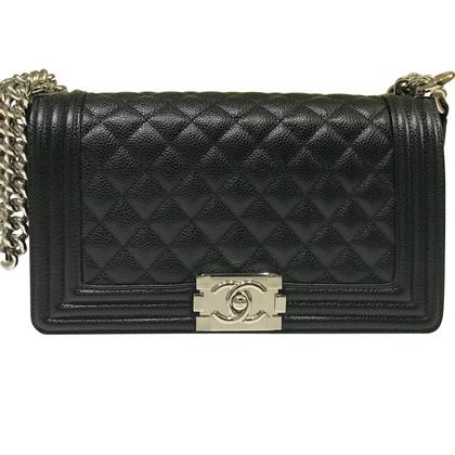 "Chanel ""Boy Bag"" made of caviar leather"