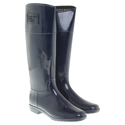 Armani Jeans Rubber boots in blue