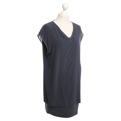 Brunello Cucinelli Elegant zijden jurk in blauw