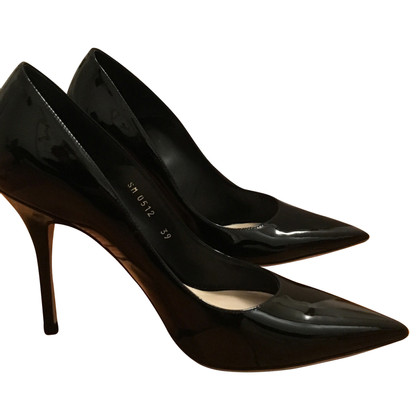 Christian Dior Black patent leather pumps