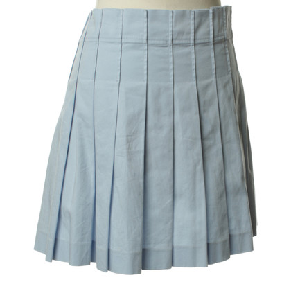Helmut Lang Pleated skirt in light blue