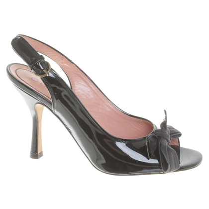 L'autre Chose Patent leather peep-toes