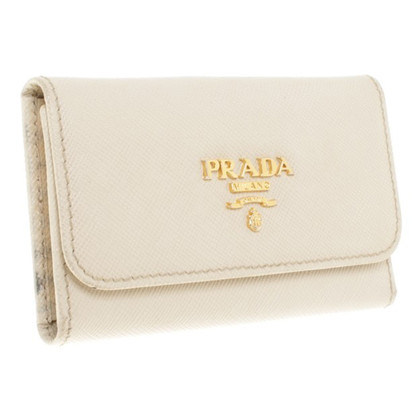 Prada Key Holder in beige