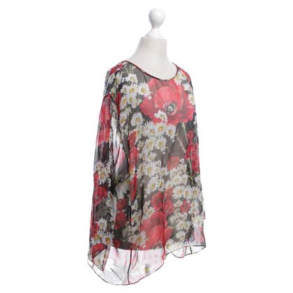 Dolce & Gabbana Seidenoberteil mit floralem Print