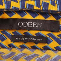 Odeeh Top in seta con motivo