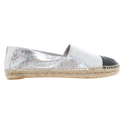 Tory Burch Espadrilles in black / silver