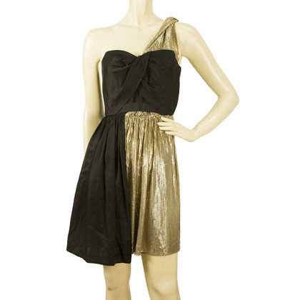Whistles Black gold dress