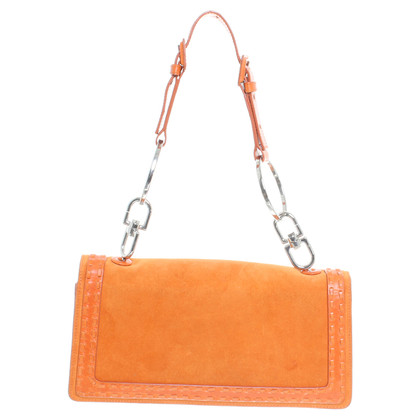 Givenchy Borsa a tracolla in pelle scamosciata in Orange