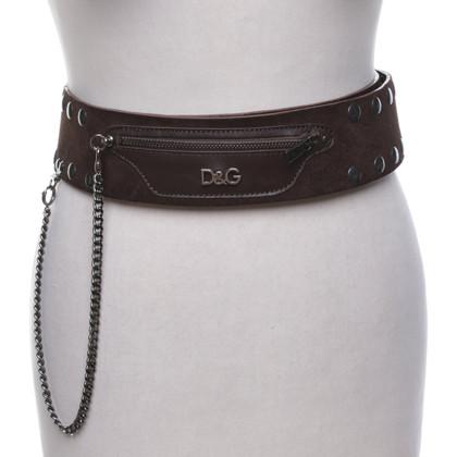 D&G Cintura in pelle scamosciata