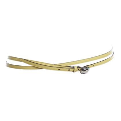 Bulgari Serpenti - cintura in pelle giallo