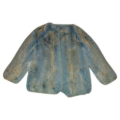 Escada Fur jacket with scarf & hat