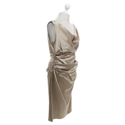 Talbot Runhof Abendkleid in Beige/Gold