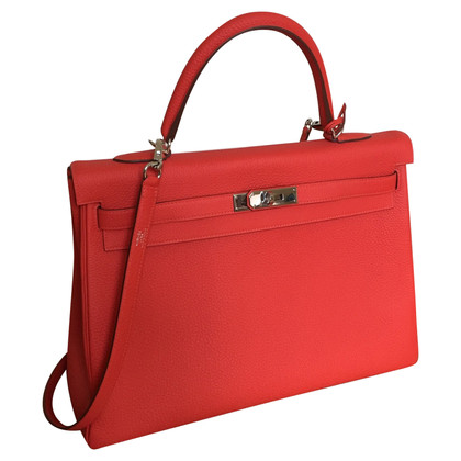"""Hermès """"Kelly Bag 35"""" van het Leer van Togo"""