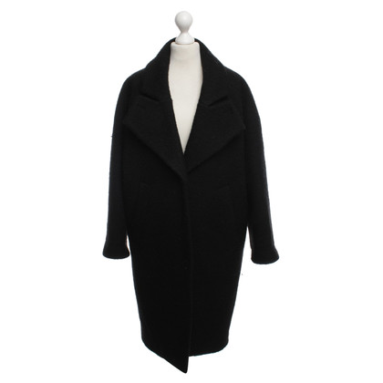 Carven Oversized Mantel in Schwarz