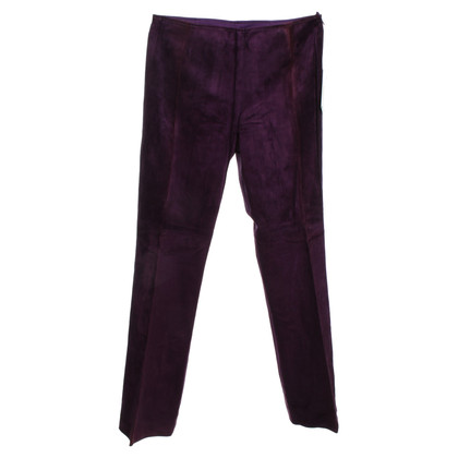 Escada Wild leather trousers in violet