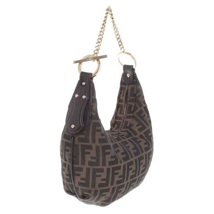 Fendi Hobo Bag met Zucca patronen