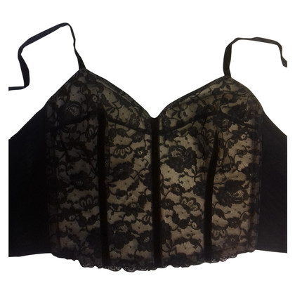 Christian Dior Black Lace Bustier
