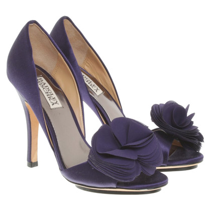 Badgley Mischka Peeptoes in purple