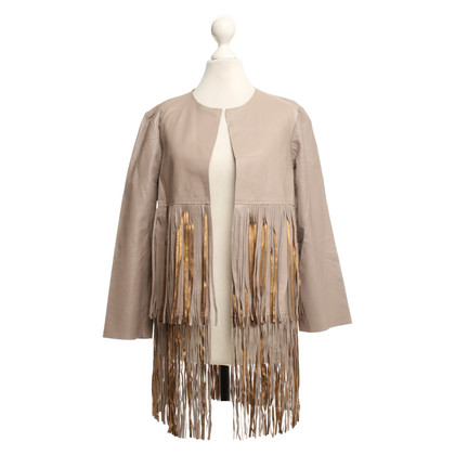 Other Designer BLANCHA - Leather jacket in taupe / gold