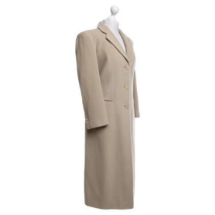 Armani Langer Mantel in Beige