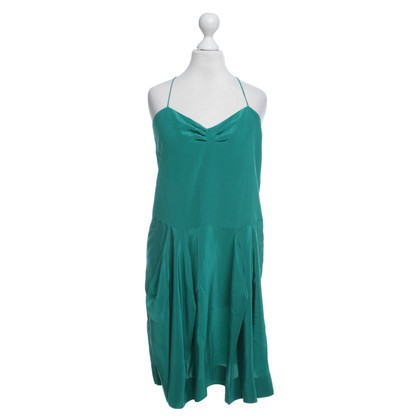 Stella McCartney Abito in seta in verde