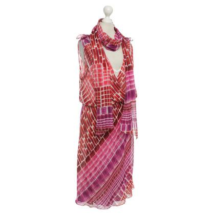 Escada zijden jurk Geo Print