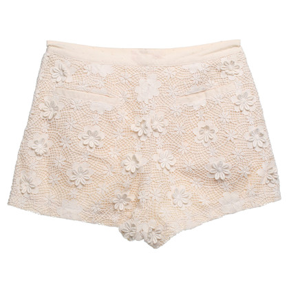 Manoush Korte spikes shorts in Beige
