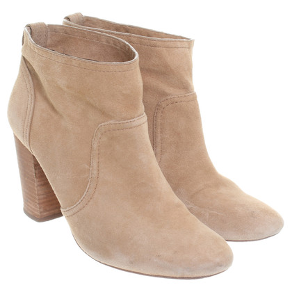 Other Designer Suede Ankle Boots in beige