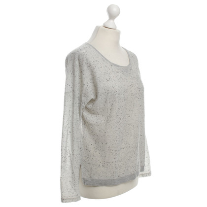 Iheart top in light gray