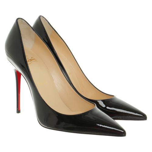 finest selection 706bc e2362 Christian Louboutin Pigalle Patent leather in Black - Second ...