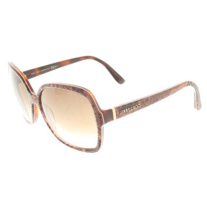 Jimmy Choo Reptile-look sunglasses