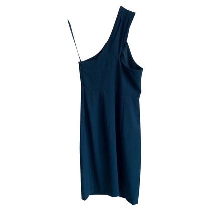 Tory Burch One-Shoulder-Kleid in Petrol