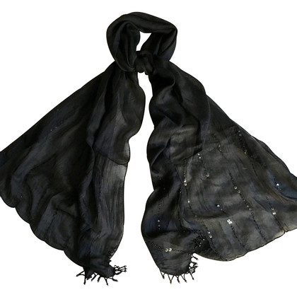 Balmain Silk scarf in black