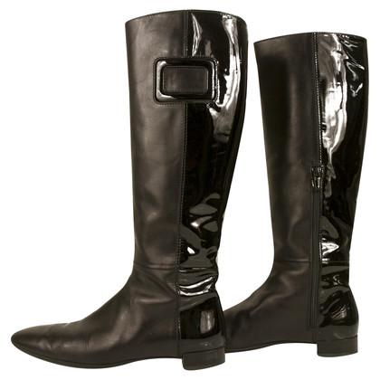 Roger Vivier Bottes hauteur genou en cuir noir