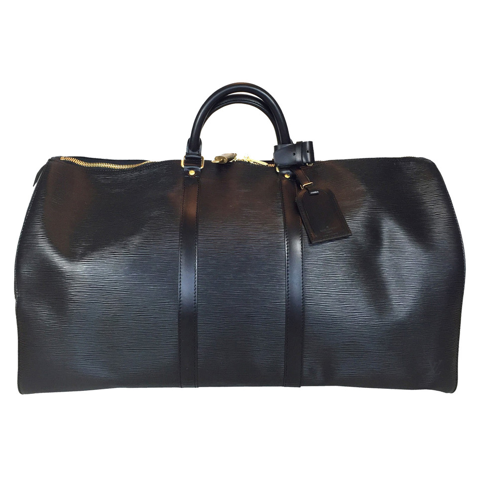 "Louis Vuitton ""Keepall 55 Epi Leather"" in black"