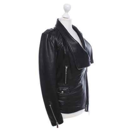 Barbara Bui Leren broek in zwart