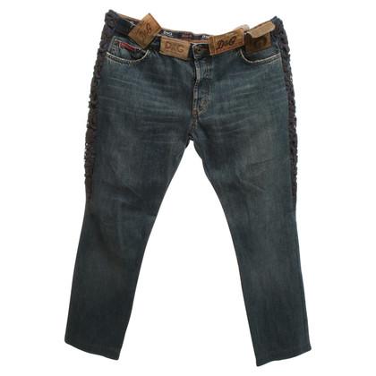 D&G Jeans mit dekorativen Details